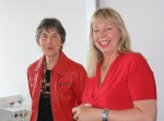 President Dutch University Women Anneke van Doorne (left) and UWE President are looking back on an excellent and animated conference although the pouring rain made the guided tor qute a challenge!