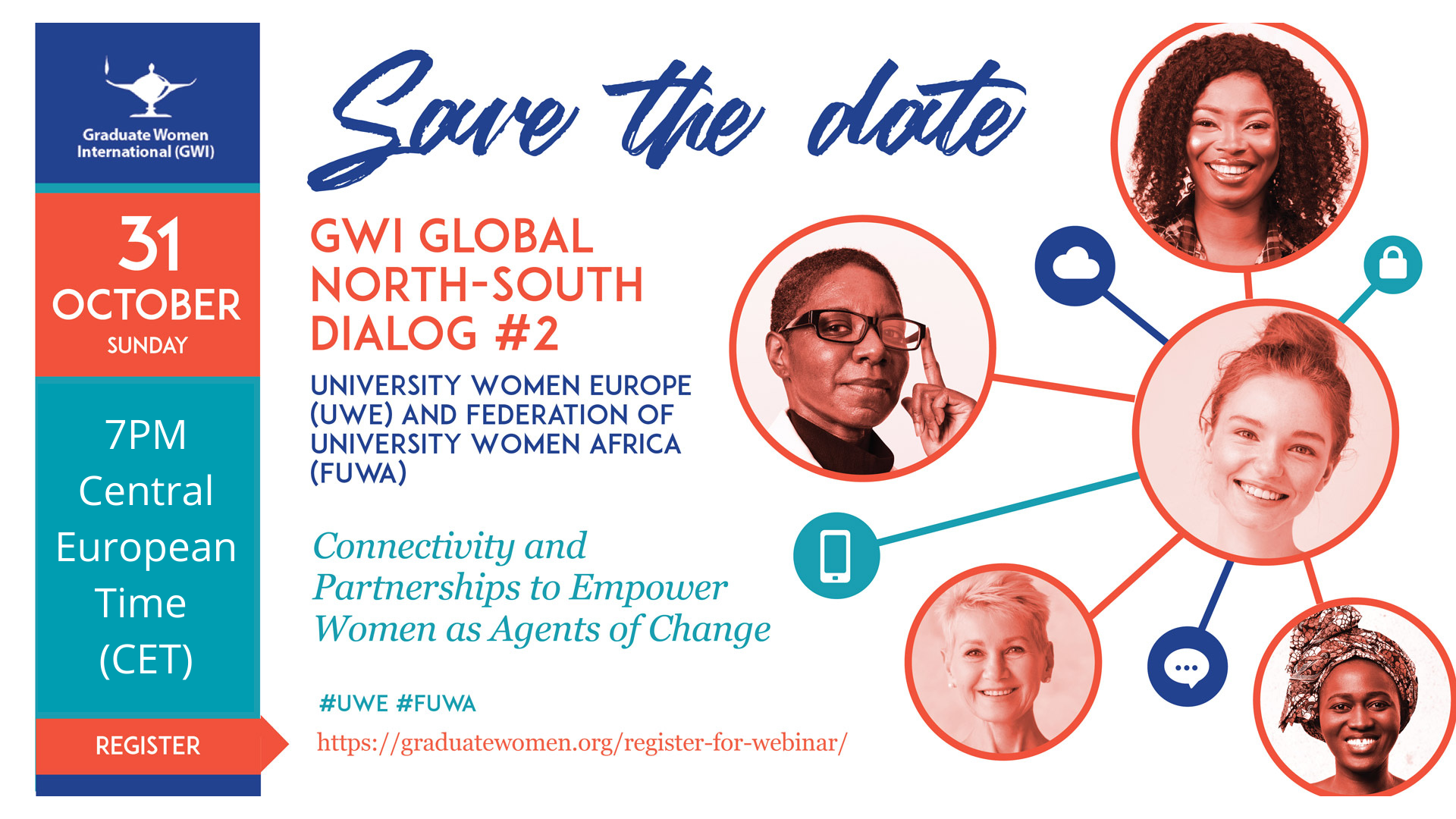 """Save the date! GWI Global North-South Dialog #2: """"Connectivity and Partnerships to Empower Women as Agents of Change"""""""